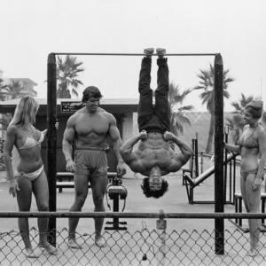 arnold schwarzenegger in pumping