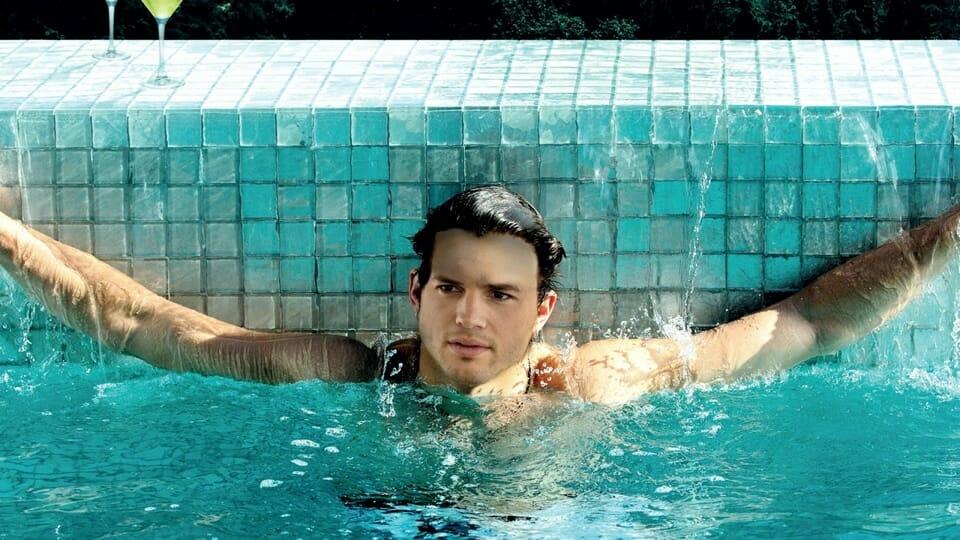 Ashton Kutcher sexy pool pic