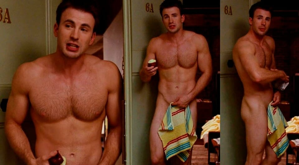 Chris Evans sexy nude body collage