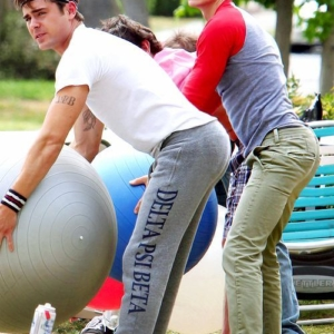 Dave Franco and Zac Efron butt