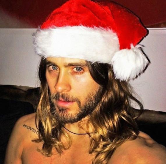 Jared Leto sexy Santa Claus