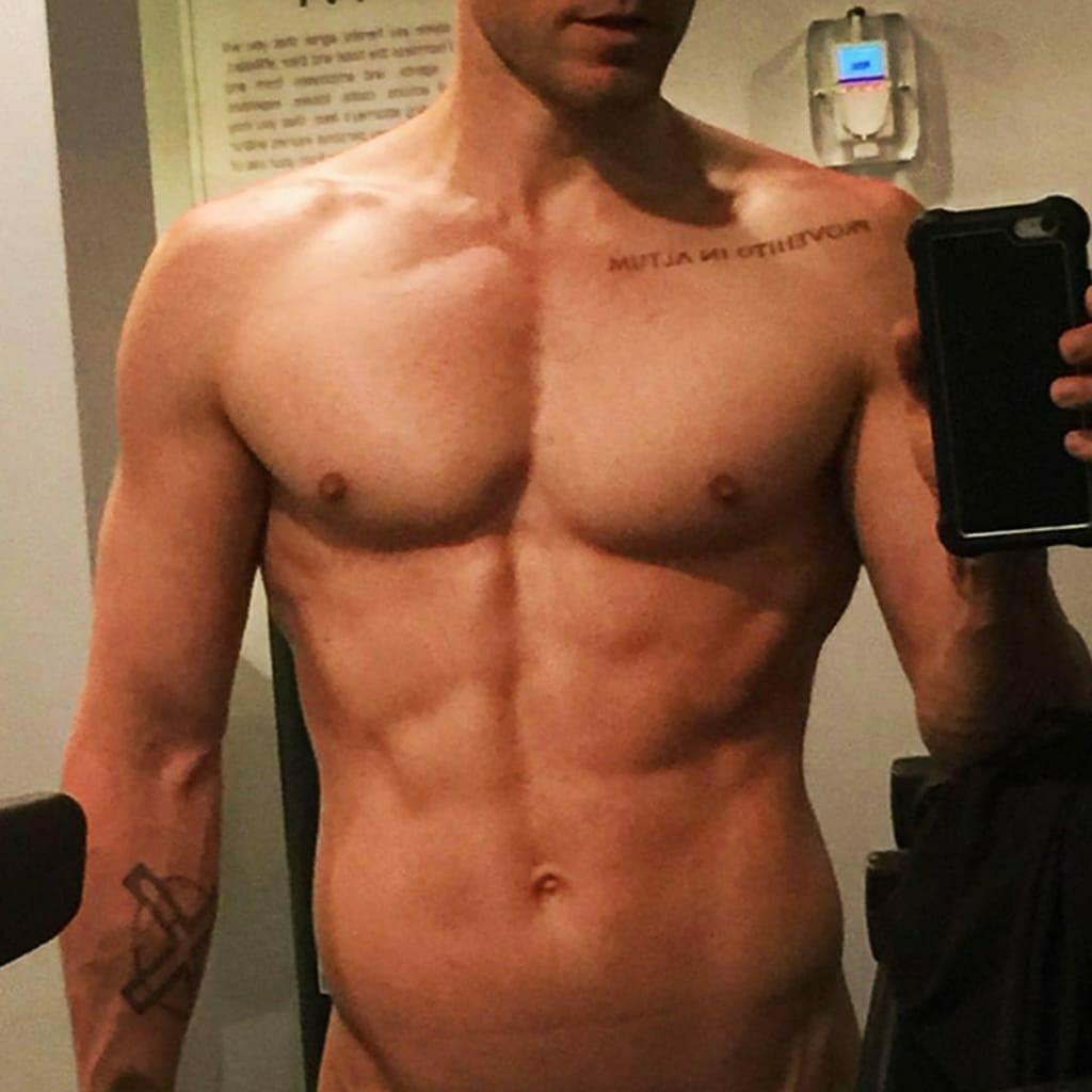 Jared Leto naked with abs