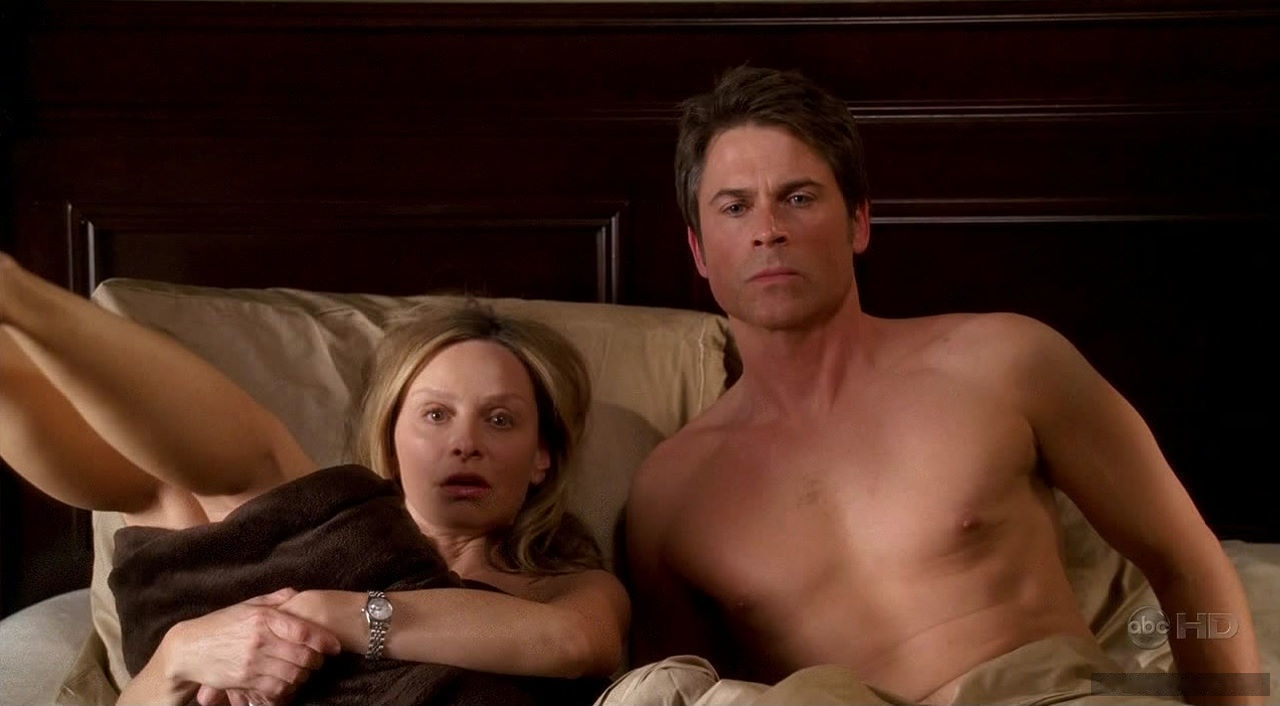 Rob Lowe showing dick