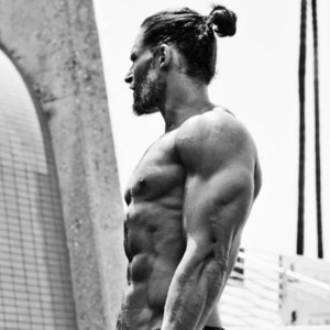 Joe Manganiello long hair ponytail