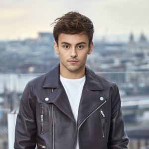 Tom Daley looking sexy in leather