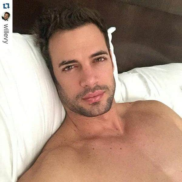 William Levy in bed