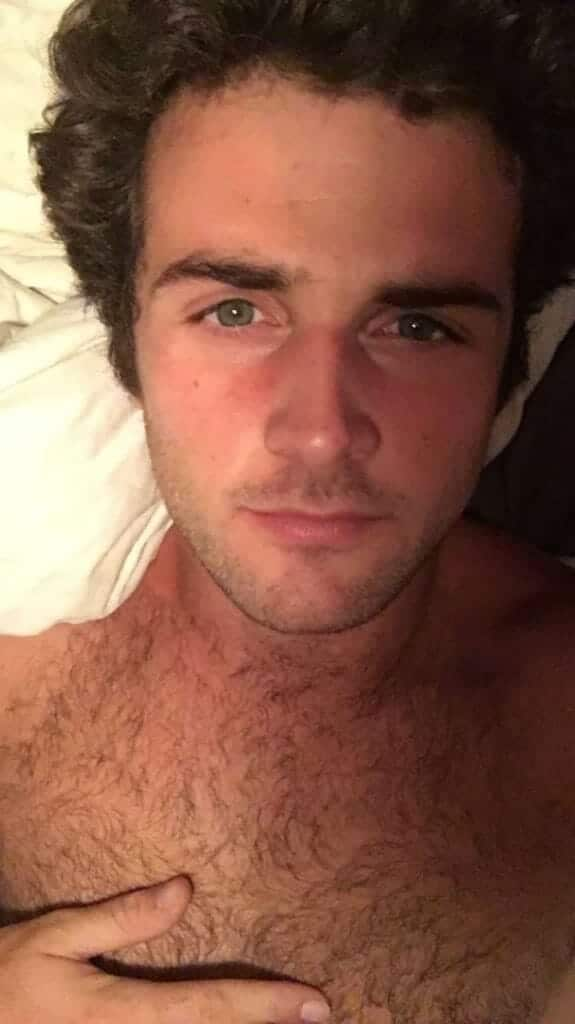 Beau Mirchoff in bed