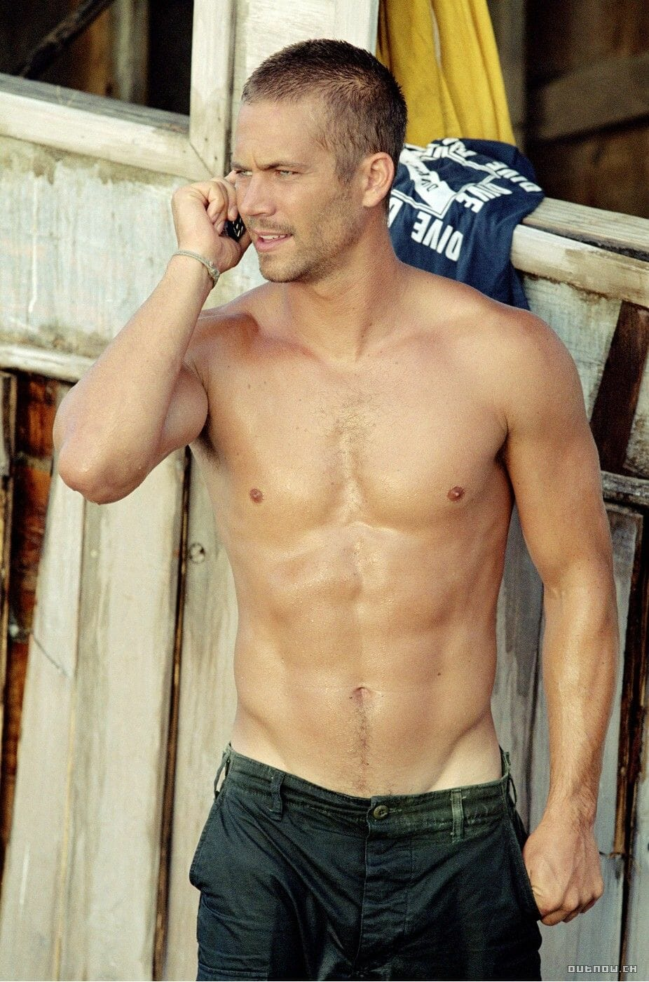 Paul Walker sexy and shirtless
