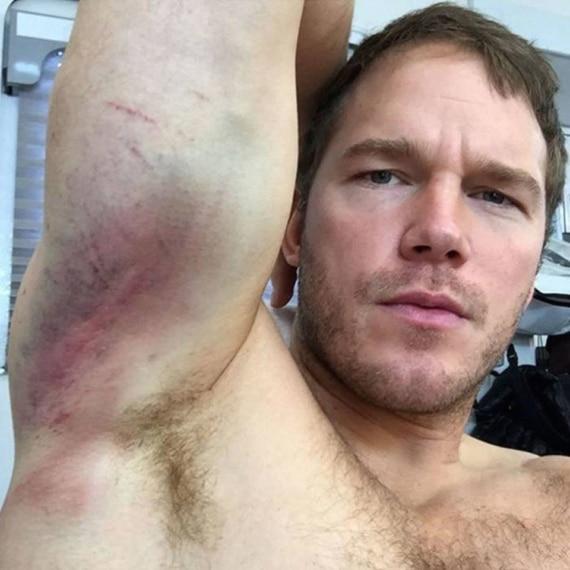 Chris Pratt selfie shirtless
