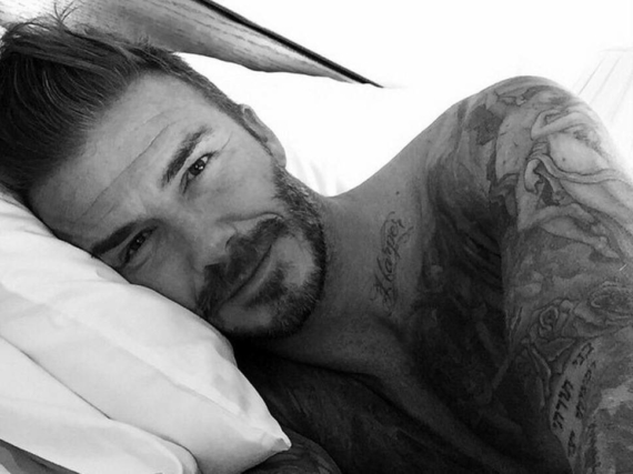 David Beckham naked selfie in bed