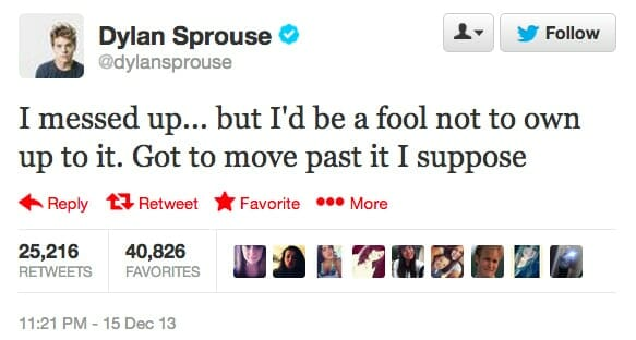 Dylan Sprouse nude twitter response