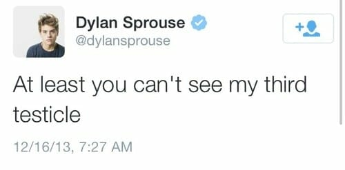 Dylan Sprouse nude tweet