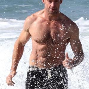 Hugh Jackman showing his body