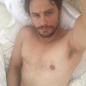 James Franco grabbing his cock
