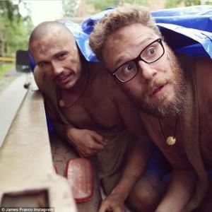 Naked James Franco and Seth Rogan
