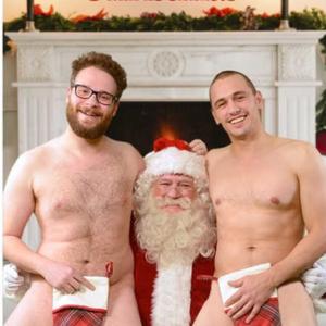 James Franco nude Christmas card with Seth Rogan (5)