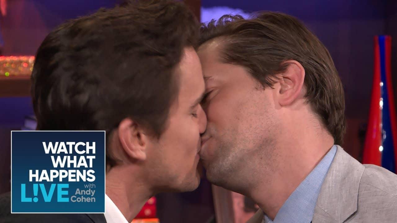 Matt Bomer and Andrew Rannells kiss (2)