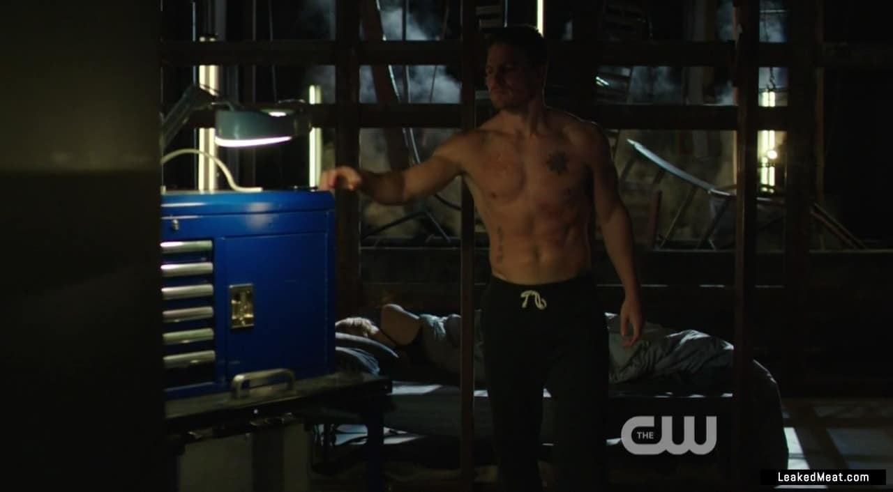 Stephen Amell big muscles