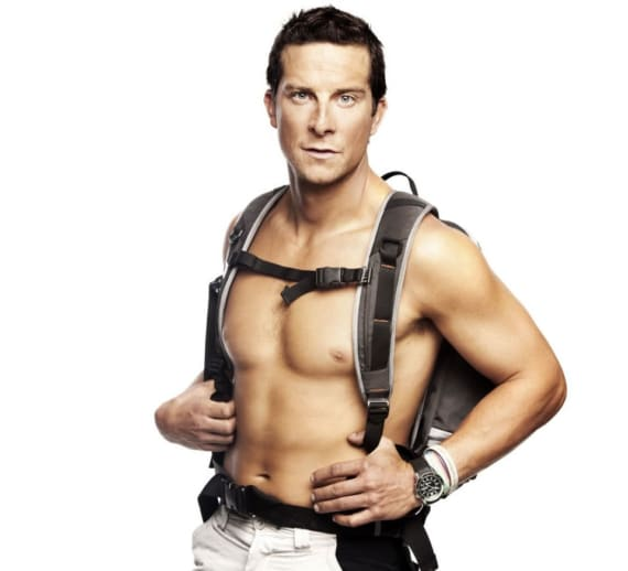 Bear Grylls sexy and shirtless