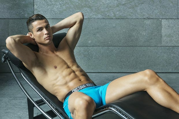 Cristiano Ronaldo modeling in underwear