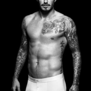 David Beckham modeling underwear