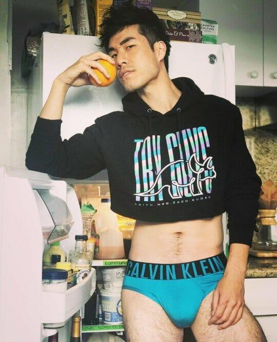 Eugene Lee Yang in underwear
