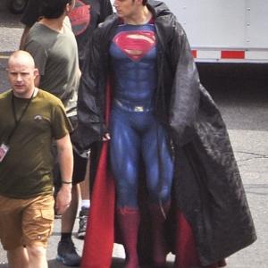 Henry Cavill bulge in Superman costume