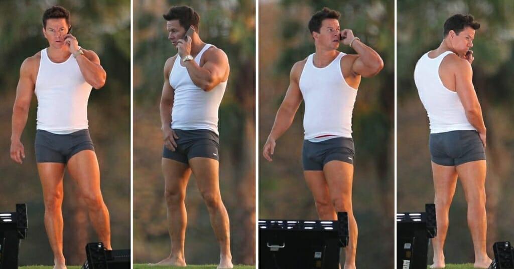 Mark Wahlberg underwear and big bulge