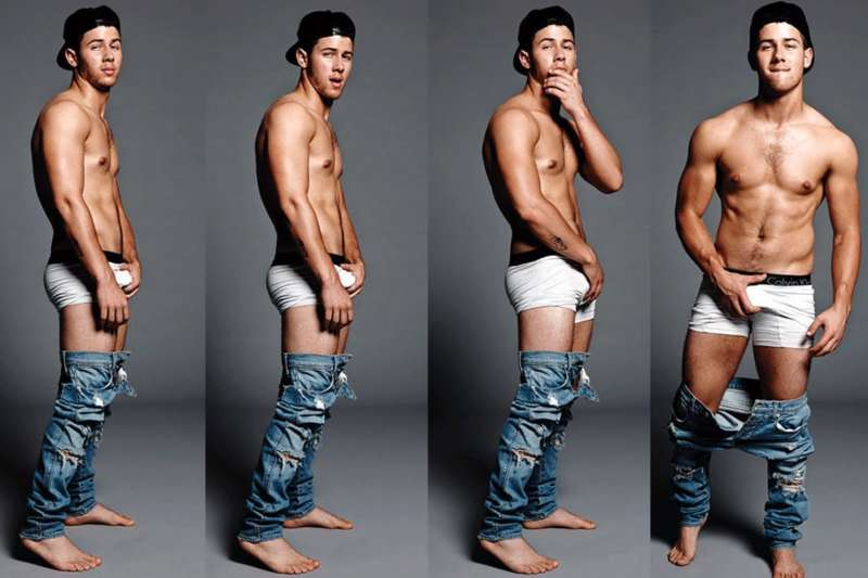 Nick Jonas underwear photoshoot