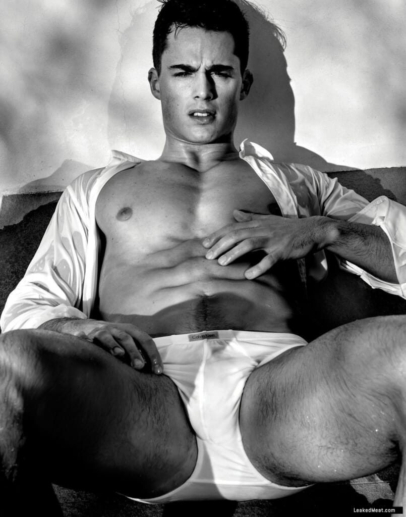 Pietro Boselli bulge while modeling underwear