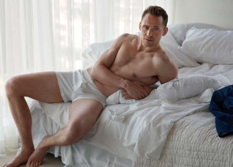 Tom Hiddleston photoshoot in underwear