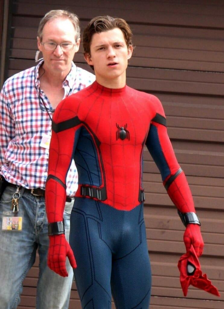Tom Holland bulge in Spiderman suit