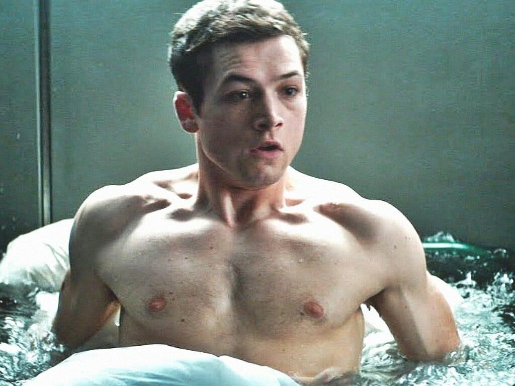 Taron Egerton shirtless muscles