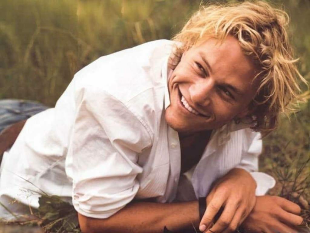 Heath Ledger sexy smile