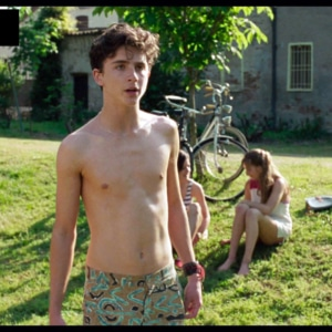 Timothee Chalamet shirtless picture